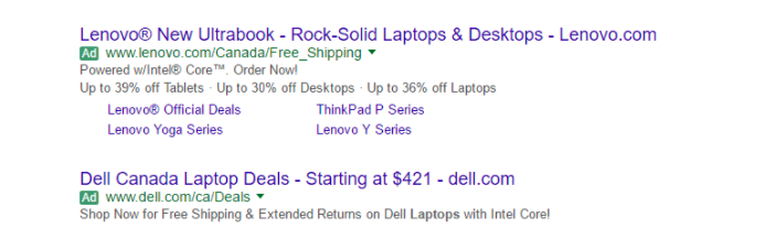 Nieuw ad label Google